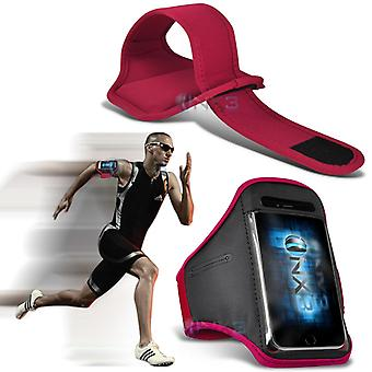 Samsung Galaxy A5 Fitness Running Jogging Cycling Gym Armband Holder Case Cover (Pink)