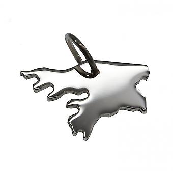 Trailer map GUINEA-BISSAU pendant in solid 925 Silver