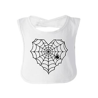 Heart Spider Web White Halloween Bib First Halloween Newborn Gift