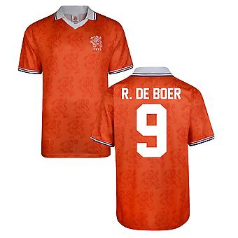 Partitur ziehen Holland World Cup 1994 Heimtrikot (R De Boer 9)