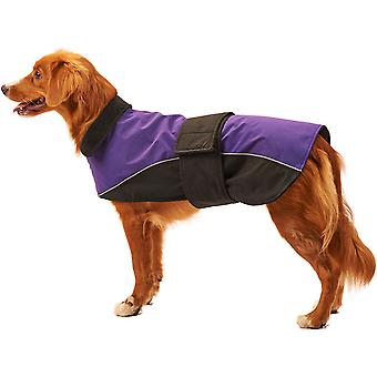 Dog Waterproof Reflective Coat-Purple Extra Large 701557