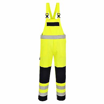 Portwest - Hi-Vis Fire Resistant Safety Workear Multi-Norm Bib & Brace Dungarees
