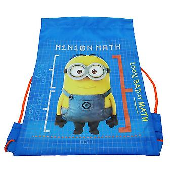 Minions Trainer Drawstring Bag, 39 cm, Blue