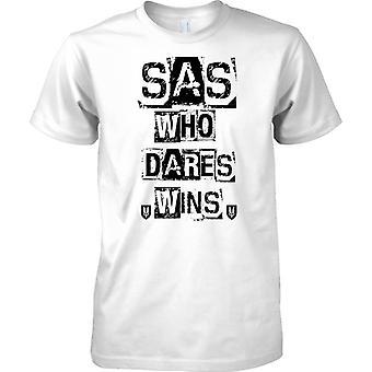 SAS Special Air Service Who Dares Wins - Special Forces Motto - Mens T Shirt