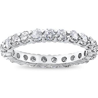 950 Platinum 2ct Diamond Eternity Ring