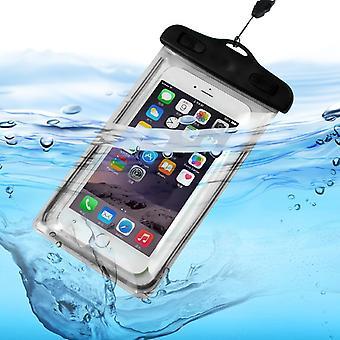 ONX3 (sort) Universal gennemsigtig mobil telefon, pas, penge undersøiske vandtæt swimmingpool, Ocean beskyttelse taske-Touch lydhør For Huawei Y5 Prime (2018)