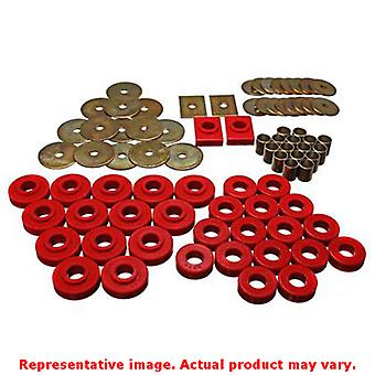 Energy Suspension Body Mount Set 3.4120R Red Fits:CHEVROLET 1955 - 1957 BEL AIR