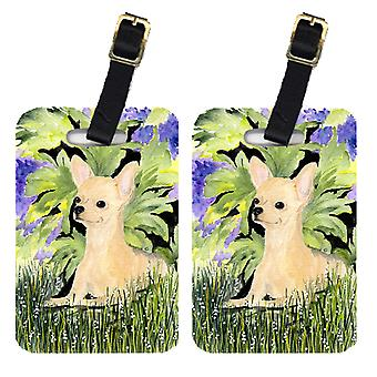 Carolines Treasures  SS8325BT Pair of 2 Chihuahua Luggage Tags