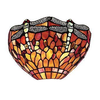 Dragonfly Tiffany Style Flame Wall Light - Interiors 1900 64103