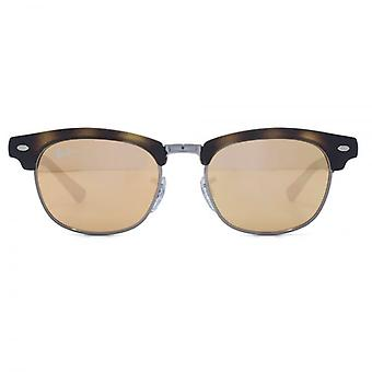 Ray-Ban Junior Clubmaster Sunglasses In Matte Havana Copper Flash