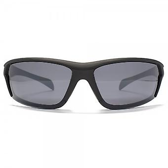 Freedom Polarised Overlaid Sports Wrap Sunglasses In Black