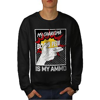 Charisma Comics Fashion Men BlackSweatshirt | Wellcoda