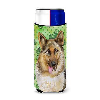 German Shepherd St Patrick's Michelob Ultra Hugger for slim cans