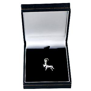 Silver 24x16mm Pony Charm on a lobster trigger