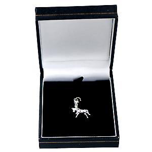 Silber 24x16mm Pony Charme auf einem Hummer-Trigger