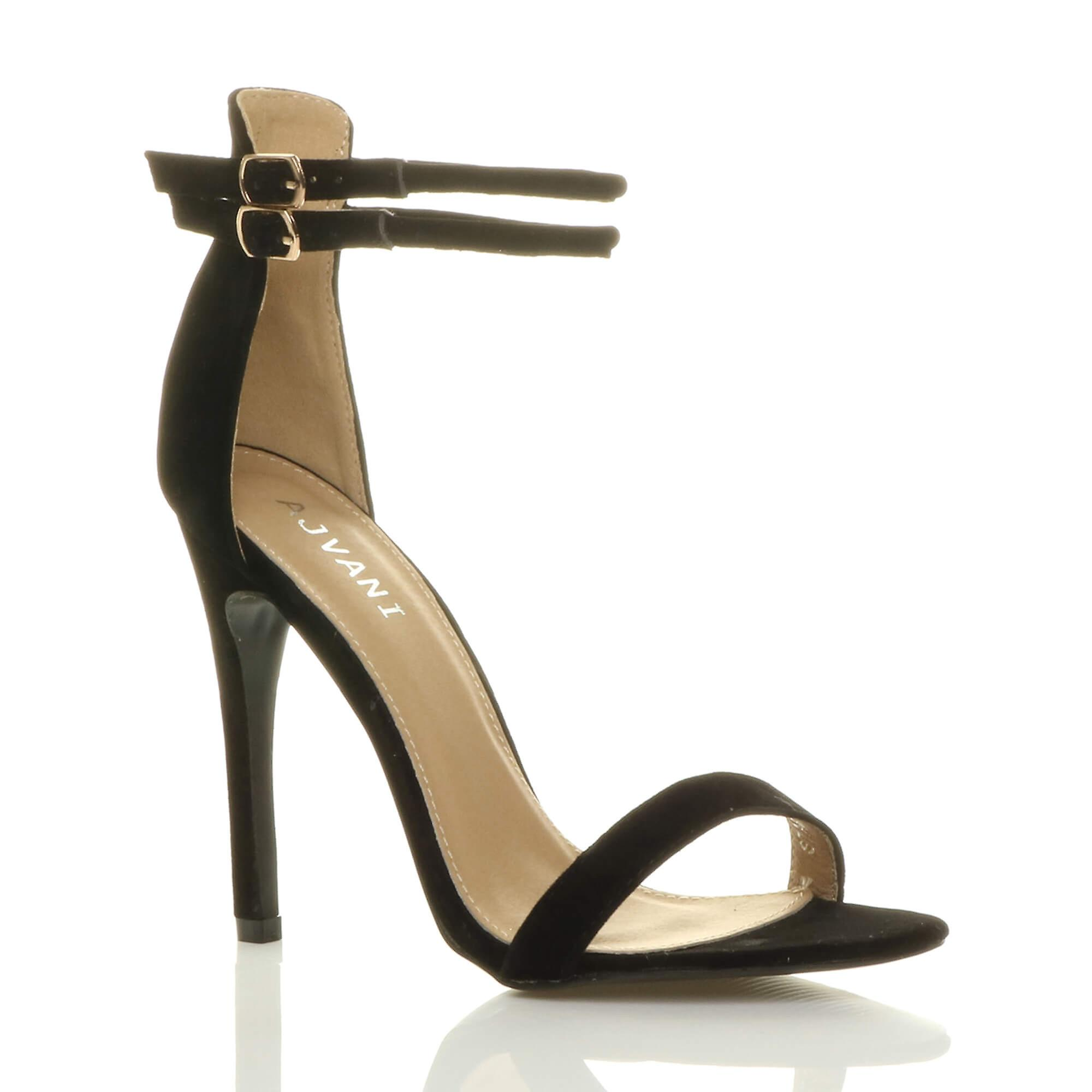 Ajvani womens stiletto high heel barely there sandals double strap buckle party sandals there shoes:Taobao:Gentleman/Lady 7909e4