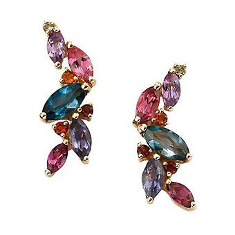 Elements Gold Mixed Stone Earrings - Multi-colour/Gold