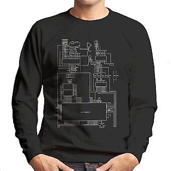 Sega Genesis Computer Schematic Men's Sweatshirt
