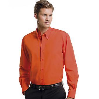 Kustom Kit Mens Workforce Shirt Long Sleeved