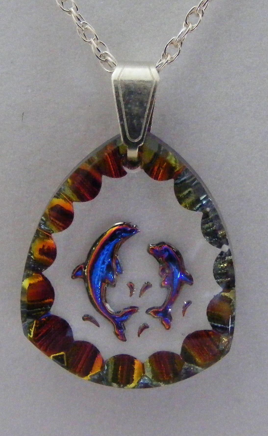 Heliotrope Dolphin Crystal Pendant