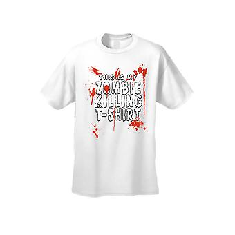 Men's/Unisex This Is My Zombie Killing T-Shirt  Short Sleeve T-shirt