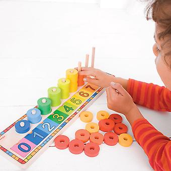 Bigjigs Toys Learn to Count Stacking Toy