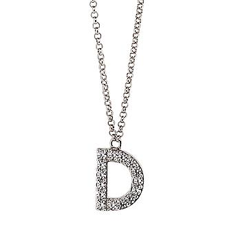 Orphelia Silver 925  Alphabet D With Chain 40-44 Cm  ZK-alpha/D