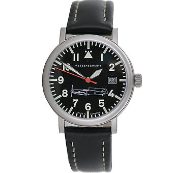 Aristo Messerschmitt men's watch Fliegeruhr ME 109 109-B1 leather