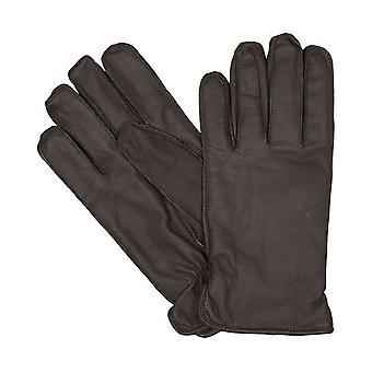 Capra di Bugatti maschile guanti guanti in pelle marrone 6458