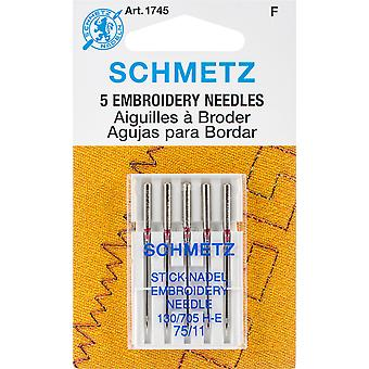 Embroidery Machine Needles-Size 11/75 5/Pkg