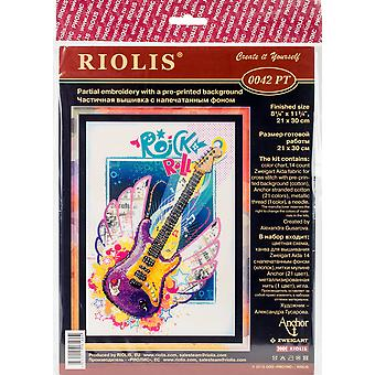 Rock 'N' Roll Stamped Cross Stitch Kit-8.25