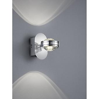 Trio Lighting Lentil Modern Chrome Metal Wall Lamp
