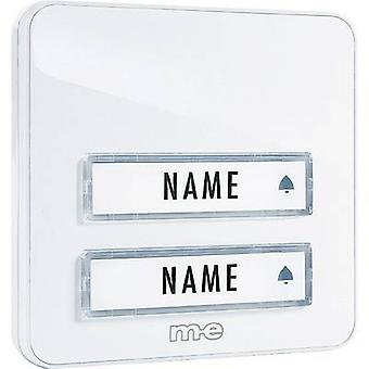 m-e modern-electronics KTA-2 W Bell panel with nameplate 2x White 12 V/1 A