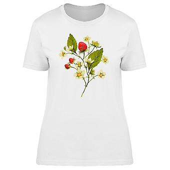 Strawberries On Branches Tee Women's -Image by Shutterstock