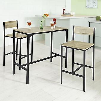 SoBuy Bar tavolo e 2 Sgabelli Cucina Bar mobili da pranzo insieme, OGT03