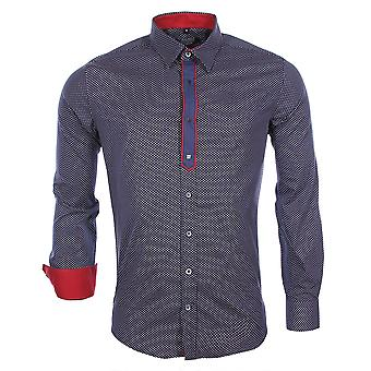 Long sleeves shirt Navy Blue 8336 Carisma Man