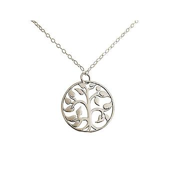 Gemshine - ladies - - pendant - tree of life necklace - 925 Silver - 3,5 cm