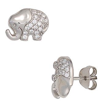 Children earrings elephant 925 sterling silver with cubic zirconia girl earrings children's jewellery