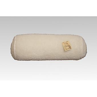 Nackenrolle Wolle ecru 42 cm x 14 cm