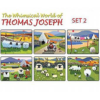 Thomas Joseph Sheep Design Place Mat Set of 6 (Set 2)