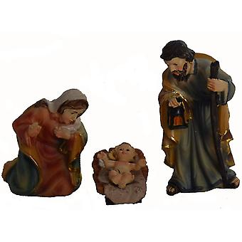 Nativity crib figures 3 piece 19 cm for Nativity Holy Family
