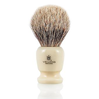 Vie-Long 16728 bianco Badger pennello da barba