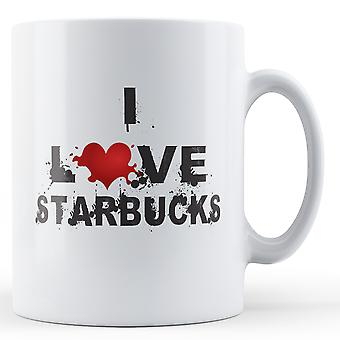 I Love Starbucks printed mug