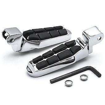 Tombstone Motorcycle Foot Peg Footrests Chrome L&R For Honda 1100 Ace Tourer 2002-2003 Front