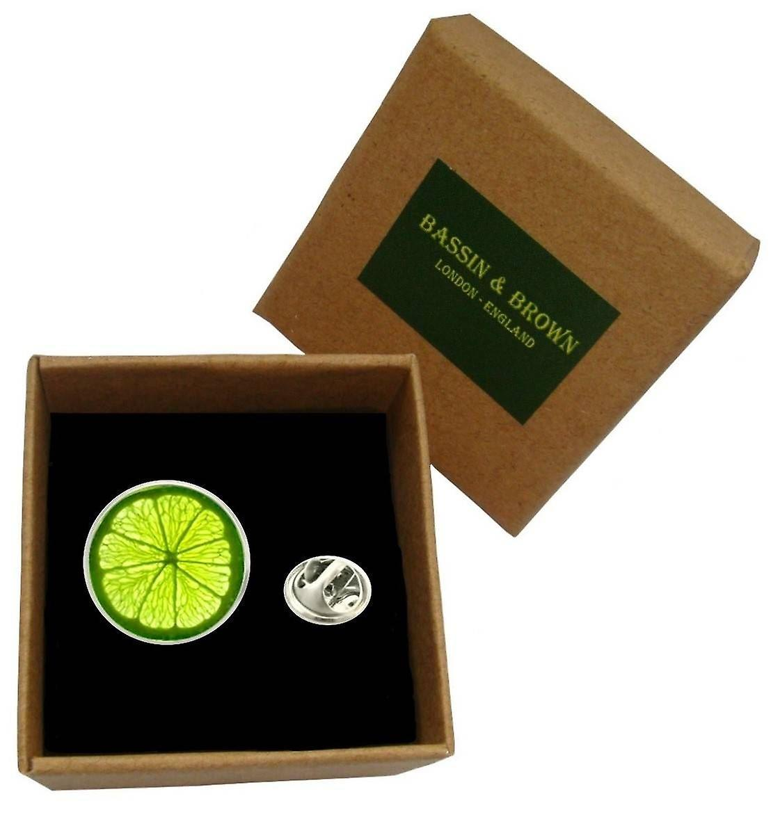 Bassin and Brown Lime Jacket Lapel Pin - Lime Green