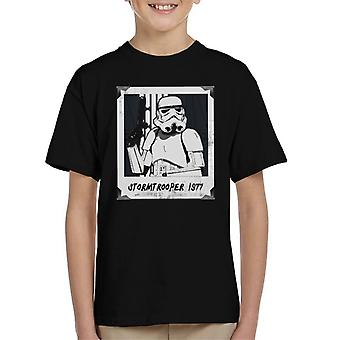 Originele Stormtrooper Retro Frame Kid's T-Shirt