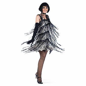 Paljett Charleston damer klänning stängnätet 20s år dam kostym