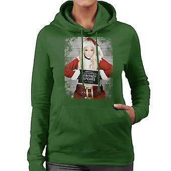Christmas Mugshot Britney Spears Women's Hooded Sweatshirt