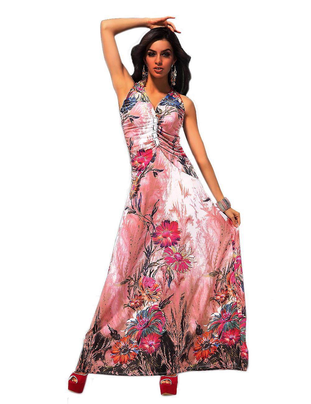 Waooh - mode - klänning lång skäl blommor