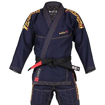 Tatami Fightwear Estilo 6.0 Mens BJJ Gi Navy/Gold